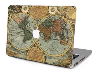 World map macbook etsy world navigation map vintage vinyl sticker skin decal cover top case for apple macbook pro gumiabroncs Gallery