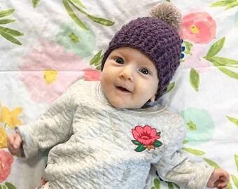 c241f9a53446c LILY Newborn Pompom Hat