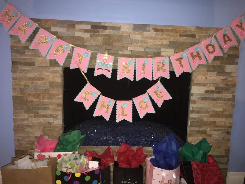 Happy Birthday Unicorn  Banner