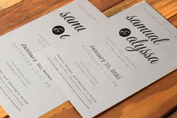 Simple And Clean Wedding Invitation Template
