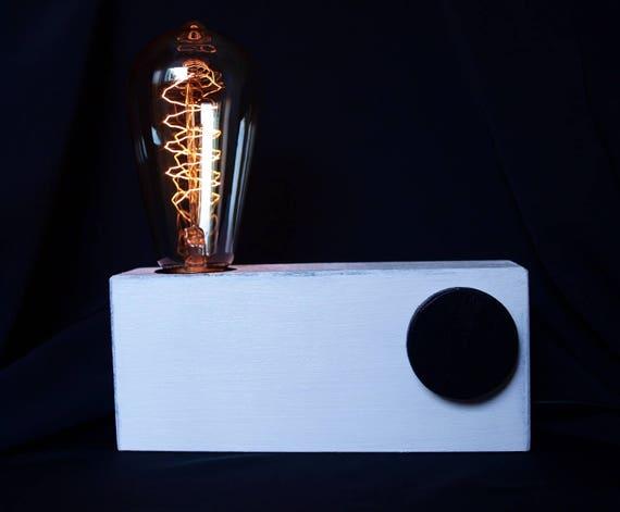 Steampunk lampe edison lamp en bois lampe rustique lampe fait main