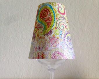 Paisley lamp shade etsy paisley wine glass lamp shade aloadofball Choice Image