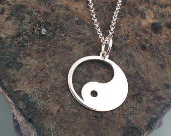 Ying Yang necklace, ying yang charm, sterling silver, dainty necklace, delicate necklace, ying yang jewelry, gold plated, rose gold