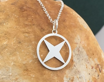 Silver star necklace, sterling silver pendant, star necklace, celestial necklace, dainty jewelry, delicate neckla, space necklace