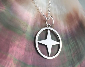 Star necklace, star jewelry, celestial necklace, dainty jewelry, delicate necklace, silver star necklace, sterling silver pendant