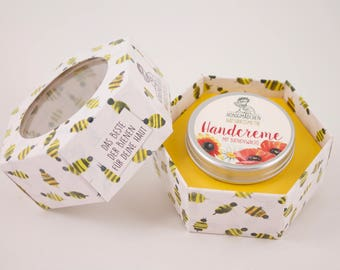 Honey Girl Natural Cosmetics natural hand cream intensive with beeswax and apricot 50ml