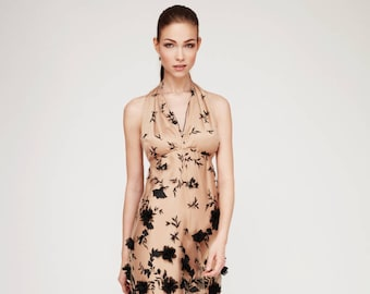 Dress Kunzil: Ball gown, prom dress, occasion dress, evening dress, Festlicheskleid. 100% silk. Olcay Krafft Fashion