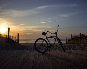 Photography Print | NJ Shore Beach Lifestyle | 'Bikes and Boardwalks' -  (Lavallette, NJ)
