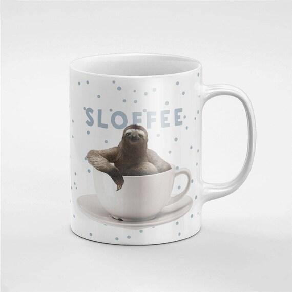 Café Sloffee paresseux dans une tasse en céramique café thé Mug cadeau pour lui / amie / collègue | MUG240