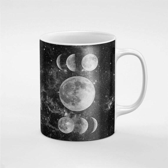 Moon Phases lunaires galaxie étoiles en céramique café thé Mug cadeau pour lui / amie / collègue | MUG290