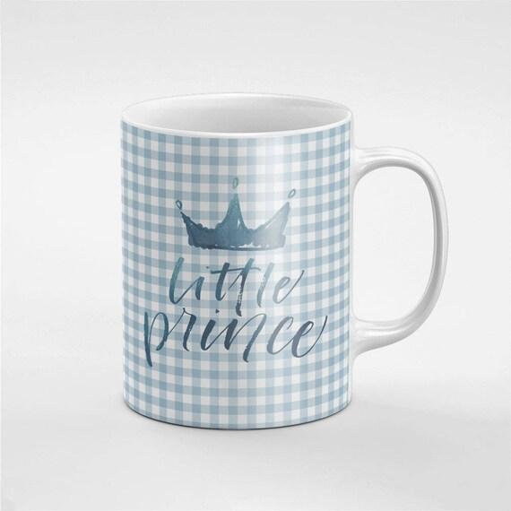 Couronne de Petit Prince bleu garçon doux en céramique café thé Mug cadeau pour lui / amie / collègue | MUG110