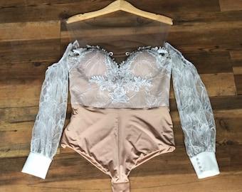220d50462f Boho bridal bodysuit