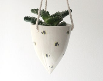 Hanging Planter with bee design