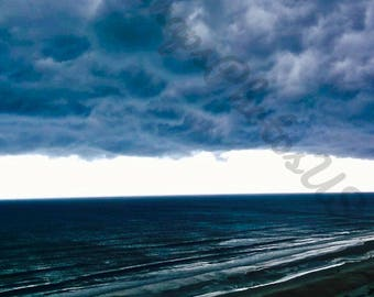 Storm Clouds Beach Print