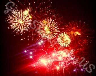 New Year's Eve Fireworks Print