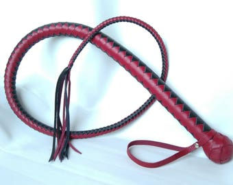 Leather whip, One-tailed leather whip, BDSM whip, Leather whip BDSM, Leather BDSM riding crop