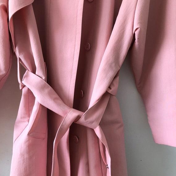 Pink London Fog Trench Coat - image 7