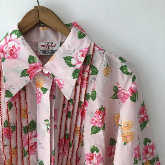 Collared Pink Floral Robe / Housedress