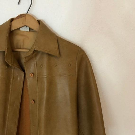 Tan Vinyl Cowboy Trench Coat / Duster