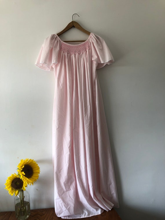 Pink Cotton Nightgown - image 2