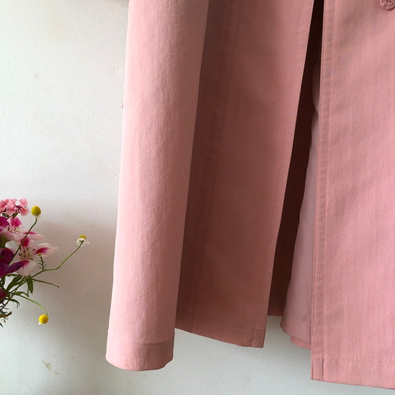 Pink London Fog Trench Coat - image 10