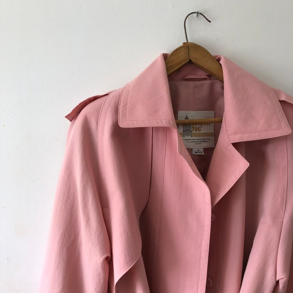 Pink London Fog Trench Coat