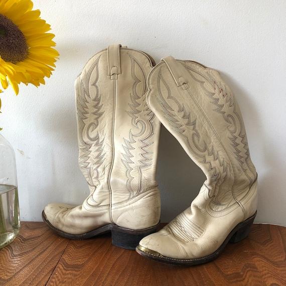 Off White Womans Cowboy Boots