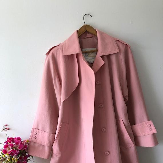 Pink London Fog Trench Coat - image 5