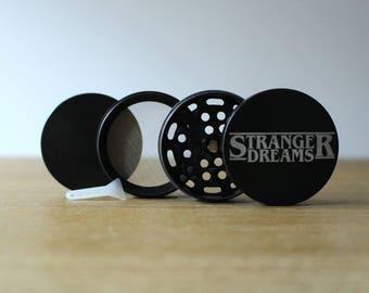 4 Piece Grinder - Stranger Things - Stranger Dreams - Laser Engraved Herb Grinder