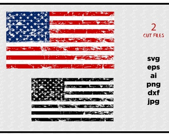 Distressed American Flags , SVG Cut File, Vinyl Cutter, Vector Art, Digital Instant Download, Patriotic svg, svg for Cricut & silhouette