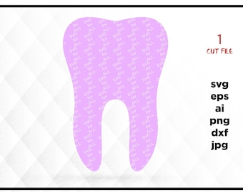 Tooth SVG instant download design for cricut or silhouette, dental care