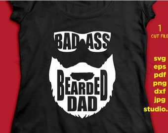 75614d951 Beard Svg, Dad Svg, Bearded Dad SVG, eps, png, jpg transfer, studio.3 Gifts  for Dad, Funny Dad Gift Badass Dad, father's day svg