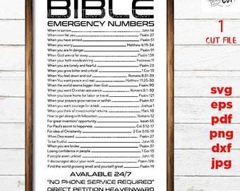 Dowload Png File PNG File Print Tshirt Bible Emergency Numbers Download File
