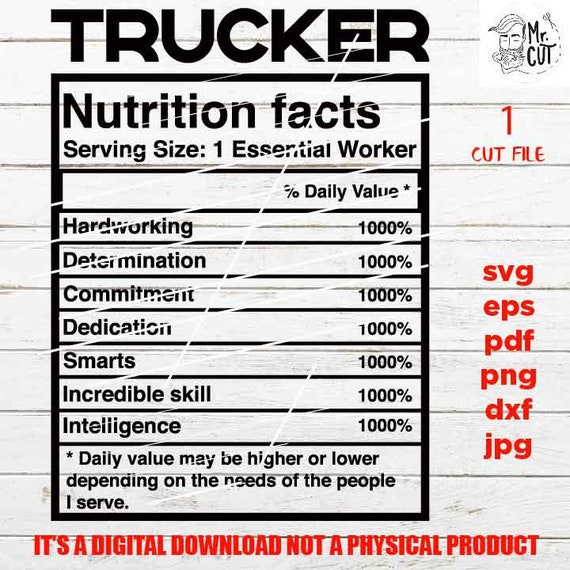 PNG high resolution cut file essential worker truck driver idea gift sign Svg pdf trucker facts shirt vector design Dxf eps