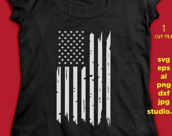 USA flag Distressed SVG DFX Cut file Cricut explore file wood sign decal Patriotic t shirt, fourt of july, studio.3, png, jpeg