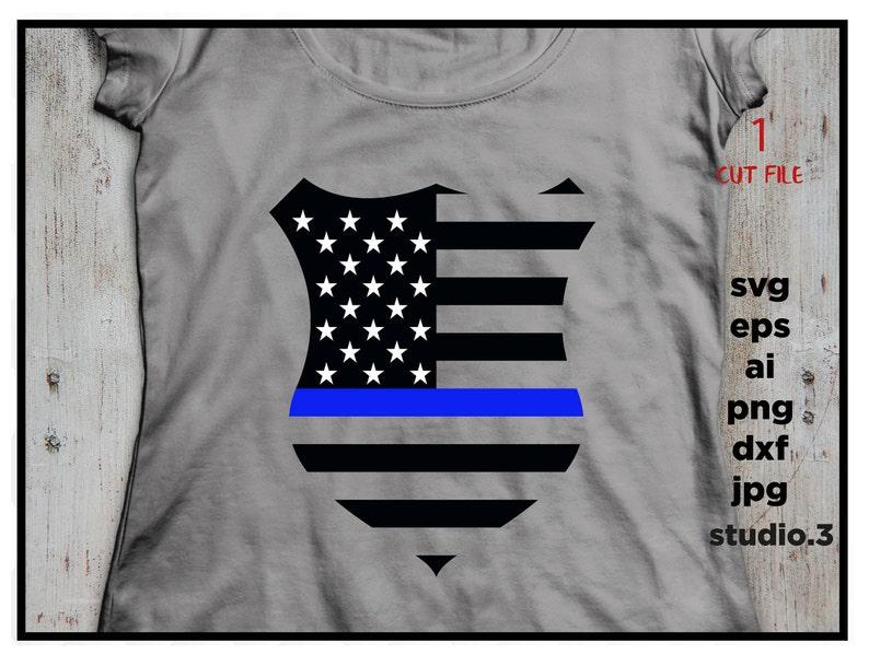 Police Badge SVG Svg Files Badge SVG Police SVG Silhouette Files Cricut Files Police Badge