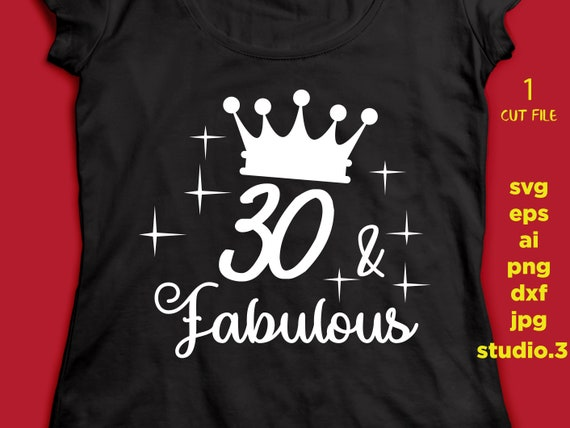 30 And Fabulous 30th Birthday Text T Shirt Design Mug