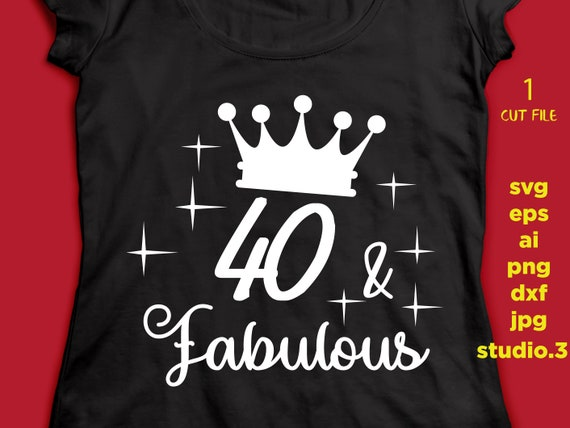 40 And Fabulous 40th Birthday Text T Shirt Design Mug