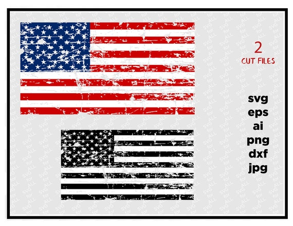 Distressed American Flags Svg Cut File Vinyl Cutter Vector Etsy