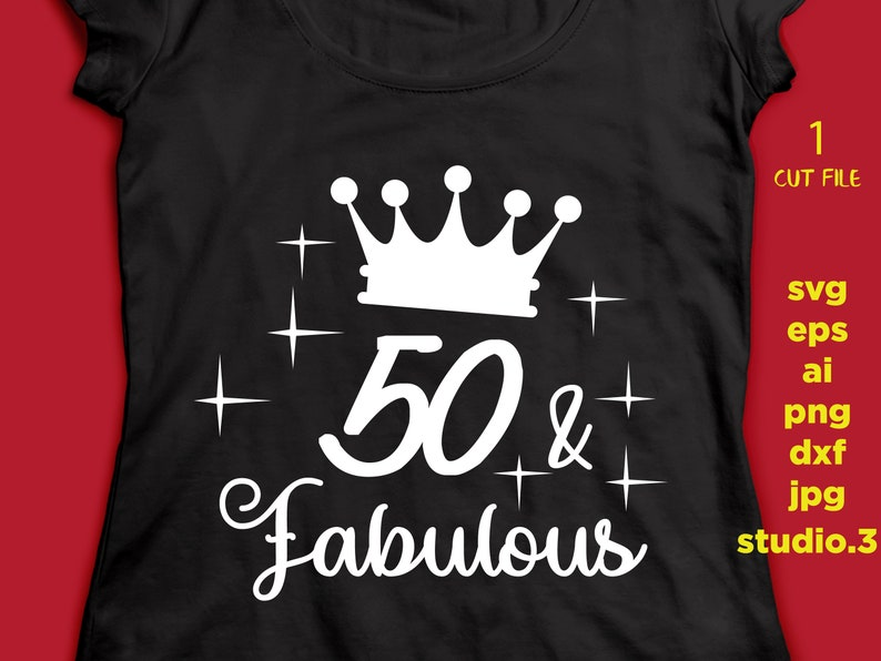 50 And Fabulous 50th Birthday Text T Shirt Design Mug