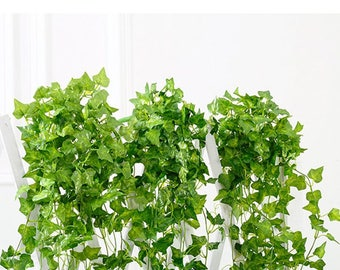 7.6ft (2.5M) Artificial Ivy Leaf Garland Plants Vine Fake Foliage Flowers Home Decor