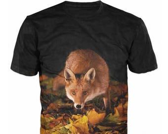 3D Fox T-shirt Fox Hunter River Mount Forest Men T-shirt