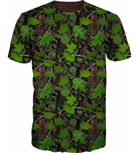 Cool 3D Camouflage Floral Hunting Fishing Mens T-shirt Khj0pl3