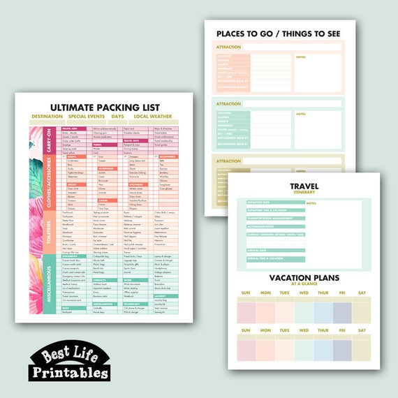 graphic relating to Vacation Planning Printable identify Holiday vacation Designing PRINTABLE - 8.5 x 11 inches (Supreme Packing Listing, Scientific studies Areas in the direction of Transfer, Push Itinerary, Calendar at a Glimpse)