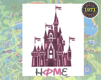 Phi Mu Disney Castle Home Magic Kingdom Art - Great gift for Big and Littles! INSTANT DOWNLOAD