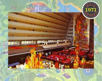 Walt Disney World Grand Canyon Concourse Contemporary Resort DiGITALLY RESTORED Vintage Postcard  INSTANT DOWNLOAD