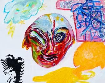 Squidward's Alone Purgatory, But Make it Balkan Art Print