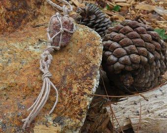 Hemp Wrapped Hippie Macrame Boho Necklace Made With Love