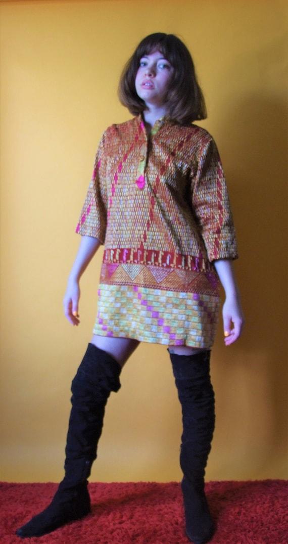 60's tapestry mini dress - image 1