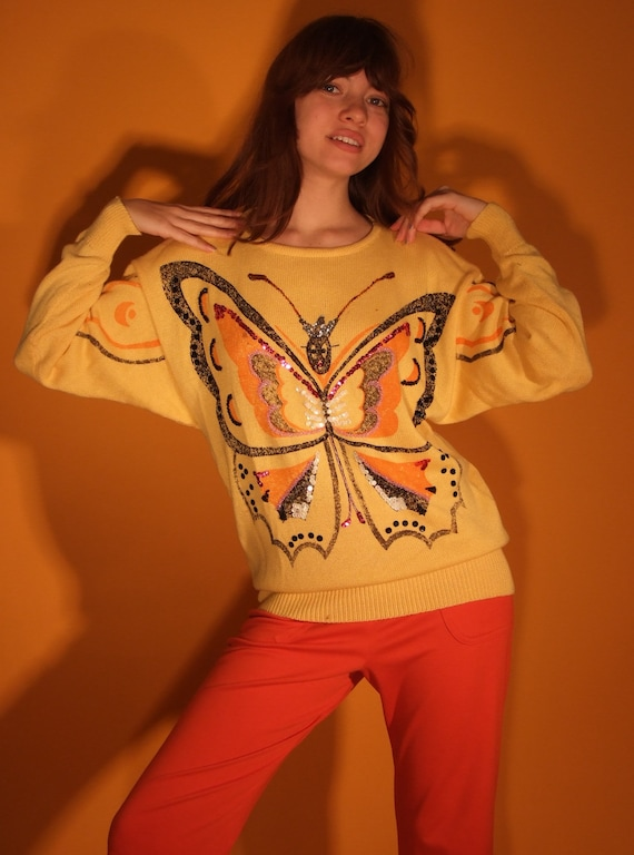 70's Butterfly knit